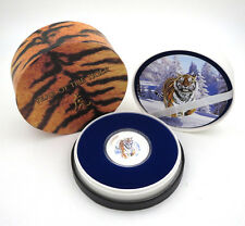 2010 PITCAIRN ISLANDS YEAR OF TIGER 1OZ SILVER PROOF COIN NZ MINT COA