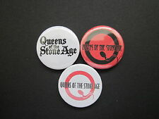 "QUEENS OF THE STONEAGE  - x 3  -1""  Button Badges -punk - music -FREE UK POST"