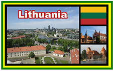LITHUANIA - SOUVENIR NOVELTY FRIDGE MAGNET - BRAND NEW - GIFT