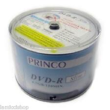 DVD-R 24x Princo Slim White Logo 4.7GB High Quality Blank Media 60pcs Discs