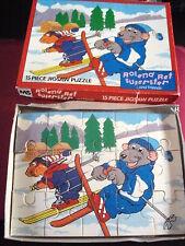 Vintage mme roland rat 15 pièce enfants jigsaw complet ski très bon état