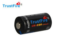 1pcs TrustFire CR123A 1400mAh 3.0V Non-Rechargeable Li-ion Battery Black