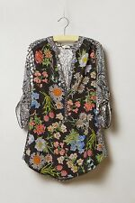 Anthropologie Tiny Floral Lacona Popover Blouse Shirt Size S