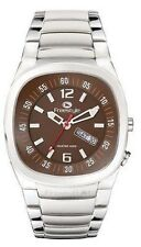 Freestyle Men's Superbank Diving and Surfing Watch Silver Band w/Brown Face