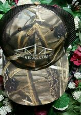 Pioneer Truss Company camo trucker hat baseball  cap snapback brown tree bark