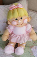 "Prestige Toy Corp. 1990 Pink Parachute Nylon Quilted Girl Baby Doll Toy 15"" EUC"