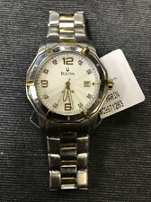 Bulova Men's 98D18 Marine Star Diamond Accent 100M Two Tone Date Watch (used)