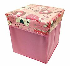 Pink Princess Pop Up Toy Foldable Storage Square Box Girls Kids Bedroom