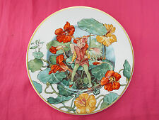 VILLEROY & BOCH Fairies Of Field & Flowers Cicely Mary Barker Plate NASTURTIUM