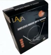 Lava HD-801 Over the Air Amplified Indoor HDTV Antenna For VHF/UHF/FM, 30db Gain