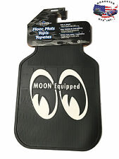 MOON EQUIPPED RUBBER FLOOR MATS MOONEYES FORD CHEVY DODGE VW HOT ROD STREET ROD