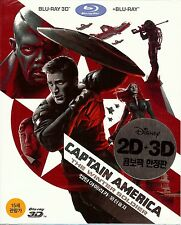 Captain America: The Winter Soldier 2-Disc Combo w/Slip (Region A Korea Import)