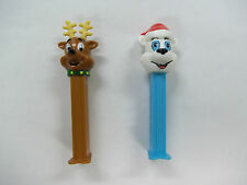 Santa Bear And Raindeer Pez Candy Dispensers 2002 See Pictures!