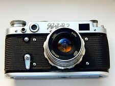 FED-2 35mm USSR Rangefinder Film Camera copy Leica + lens industar 26M Excellent