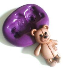 TEDDY Bear stampo in silicone FIMO PASTA di zucchero Fondant al cioccolato Sugarcraft Stampo Strumento