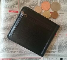 High Quality Black Faux Leather Slimline Money Clip Card Holder ID Oyster Wallet