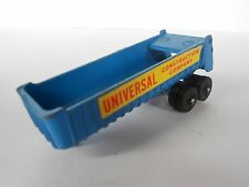 TOY TRAILER - UNBRANDED - UNIVERSAL CONSTRUCTION COMPANY - BLUE/YELLOW - 8 CM
