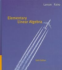 Elementary Linear Algebra, by Larson, 6th Edition