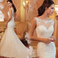 Magnifique robe de mariée, mariage en forme sirène haute qualitée