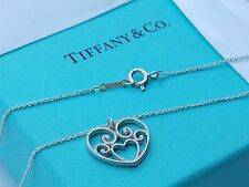Tiffany & Co. Sterling Paloma's Venezia Goldoni Open Heart Pendant Necklace 16""