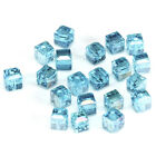 20pcs lake blueab 6mm Faceted Square Cube Cut glass crystal Spacer beads