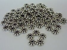 100 pce Antique Silver Daisy Spacer Beads 8mm