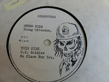 DISRUPTERS UK Soldier / no place for you / young offender RC1 PUNK