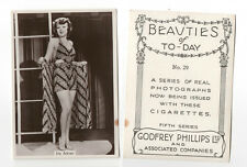 Iris Adrian 1938 Godfrey Phillips Beauties Pinup Cigarette Photo Card #29