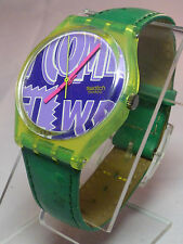 SWATCH 1990 ROBIN GJ103 - RARE - COLLECTABLE SWATCH WATCH - RUNS