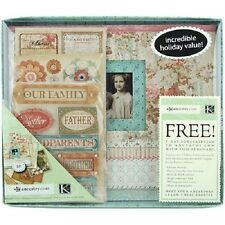 "Ancestry.com Geneaology Family History Scrapbook Kit 8.5""x8.5 Heritage 40p Scout"