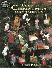 Teeny Christmas Ornaments Plastic Canvas Pattern Instructions Sue Penrod NEW