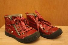 Chaussures cuir rouge fille 26