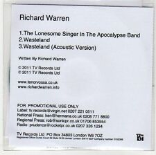 (EH856) Richard Warren, The Lonesome Singer in The Apocalypse Band - 2011 DJ CD