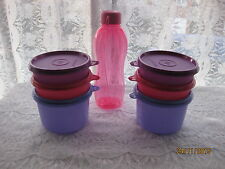 7 pack New Tupperware EXECUTIVE BOWL SET  Jars Lunch Meal  Box incl. Bottle A