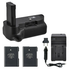 Vivitar Battery Grip for Nikon D5100 D5200 D5300 + 2 EN-EL14 Batteries + Charger