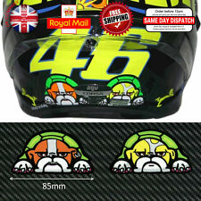 2x Valentino Rossi 46 Guido Perro Laminado Reflectantes 3m calcomanías Sticker 85mm f543