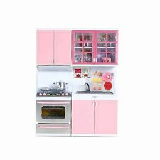 Mini Kitchen Pretend Play Cooking Set Cabinet Stove Toy for Kids Baby Children