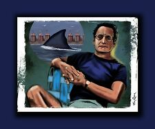 "JAWS ""Chief Brody"" Signed Amity Shark Art - 40th Anniversary Signed Print"