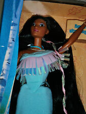 Disney Mattel Barbie Shining Braids Pocahontas Native American NRFB Neu