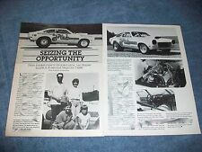 "1973 Chevy Vega Vintage Drag Car Article ""Seizing the Opportunity"""