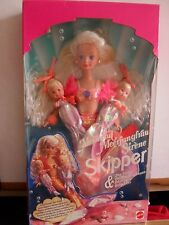 BARBIE SKIPPER MERMAID AND SEA TWINS MATTEL Doll Sirena con gemelle nuova rara