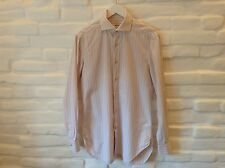 Authentic Kiton Napoli Men's Shirt Size16(41) Hand Made In Italy!
