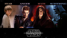Poster 42x24 cm Star Wars Anakin Skywalker Darth Vader Evolución Evolution
