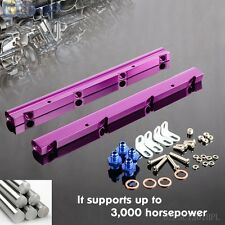 Billet Aluminum Intake Fuel Injector Rail Kit For GM Chevy LS1 LS6 Purple
