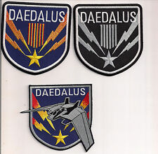 "Stargate SG-1 Daedalus Screen Accurate 4"" Patch Set of 3-FREE S&H(SGPA-DA-Set-3)"