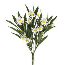 Artificial 33 cm Daisy Meadow Bush - White and Yellow Spring Flower Bushes