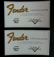 Decalcomanie Decal Fender Stratocaster ad acqua
