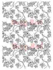 Deep Red Cling Rubber Stamp Rubber Stamp Vines Ivy Background