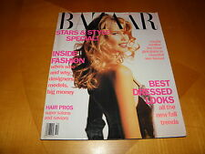 Harper's Bazaar Oct 1991 Claudia Schiffer Cover & Photos Naomi Campbell 6 Pages