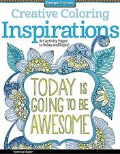 Inspirations Creative Coloring Book For Markers Watercolors Design Originals New